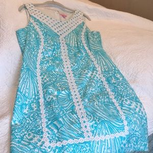 Beautiful Blue and White Lily Dress